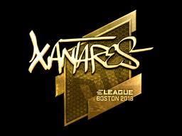 Наклейка | XANTARES (золотая) | Бостон 2018