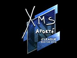 Наклейка | xms (металлическая) | Бостон 2018