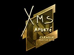 Наклейка | xms (золотая) | Бостон 2018