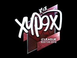 Наклейка | Xyp9x (металлическая) | Бостон 2018
