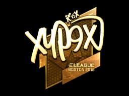 Наклейка | Xyp9x (золотая) | Бостон 2018