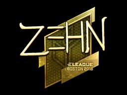 Наклейка | zehN (золотая) | Бостон 2018