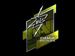 Наклейка | Zeus (металлическая) | Бостон 2018