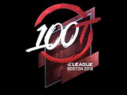 Наклейка | 100 Thieves (металлическая) | Бостон 2018