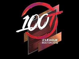 Наклейка | 100 Thieves (голографическая) | Бостон 2018