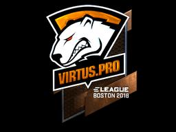 Наклейка | Virtus.Pro (металлическая) | Бостон 2018