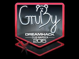 Sticker   GruBy (Foil)   Cluj-Napoca 2015
