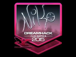 Sticker   NiKo (Foil)   Cluj-Napoca 2015