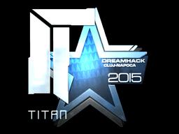 Наклейка | Titan (металлическая) | Клуж-Напока 2015