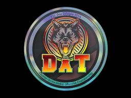 Наклейка | dAT team (голографическая) | Кёльн 2014