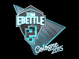 Sticker | Team eBettle (Foil) | Cologne 2015