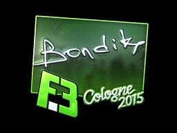 Sticker | bondik (Foil) | Cologne 2015