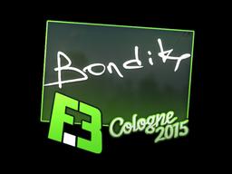 Sticker   bondik   Cologne 2015