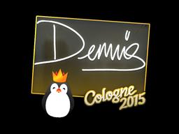 Наклейка   dennis   Кёльн 2015