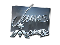 Наклейка | James (металлическая) | Кёльн 2015