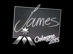 Наклейка | James | Кёльн 2015