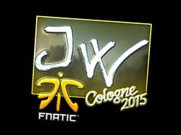 Sticker | JW (Foil) | Cologne 2015