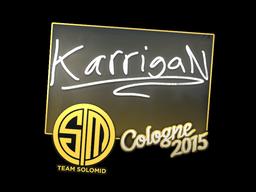 Sticker | karrigan | Cologne 2015