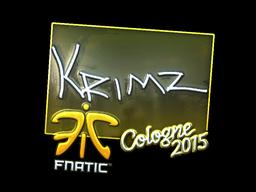 Sticker | KRIMZ (Foil) | Cologne 2015