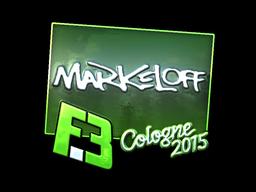 Sticker | markeloff (Foil) | Cologne 2015