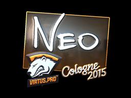 Наклейка | NEO (металлическая) | Кёльн 2015