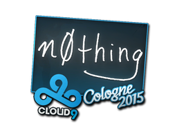 Наклейка   n0thing   Кёльн 2015