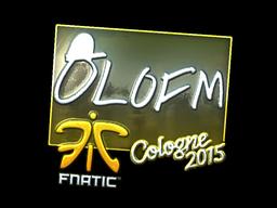 Sticker | olofmeister (Foil) | Cologne 2015