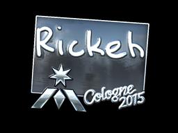 Наклейка | Rickeh (металлическая) | Кёльн 2015