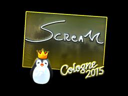 Sticker | ScreaM (Foil) | Cologne 2015