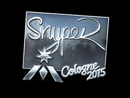 Наклейка | SnypeR (металлическая) | Кёльн 2015