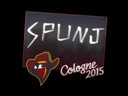 Наклейка | SPUNJ | Кёльн 2015