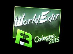 Sticker | WorldEdit (Foil) | Cologne 2015