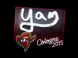 Sticker | yam (Foil) | Cologne 2015