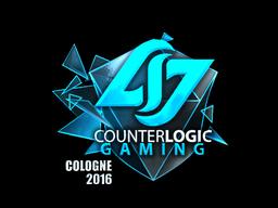 Наклейка   Counter Logic Gaming (металлическая)   Кёльн 2016