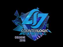 Наклейка   Counter Logic Gaming (голографическая)   Кёльн 2016