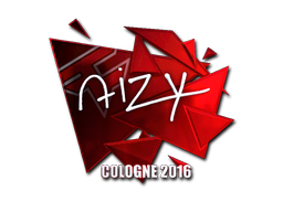 Наклейка   aizy (металлическая)   Кёльн 2016
