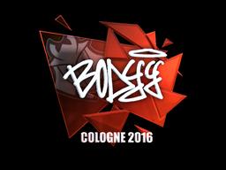 Наклейка   bodyy (металлическая)   Кёльн 2016