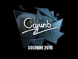 Наклейка   cajunb (металлическая)   Кёльн 2016