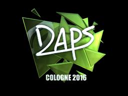 Наклейка   daps (металлическая)   Кёльн 2016
