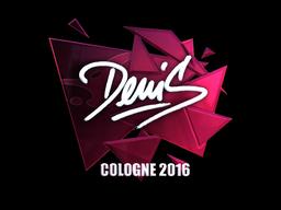 Наклейка   denis (металлическая)   Кёльн 2016