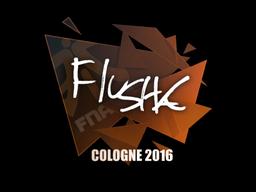 Наклейка   flusha   Кёльн 2016