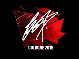 Наклейка   fox (металлическая)   Кёльн 2016