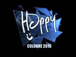 Наклейка   Happy (металлическая)   Кёльн 2016