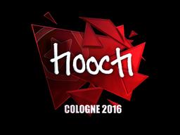 Наклейка   hooch (металлическая)   Кёльн 2016