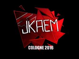 Наклейка   jkaem (металлическая)   Кёльн 2016