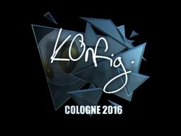 Наклейка   k0nfig (металлическая)   Кёльн 2016