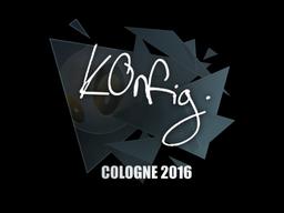 Наклейка | k0nfig | Кёльн 2016