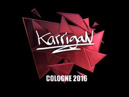 Sticker | karrigan (Foil) | Cologne 2016