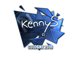 Наклейка   kennyS (металлическая)   Кёльн 2016