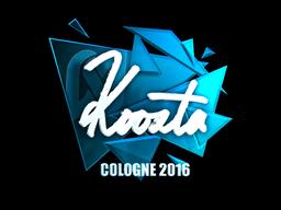 Sticker | koosta (Foil) | Cologne 2016